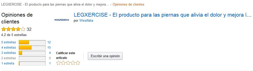Legxercise - valoración de Amazon.es