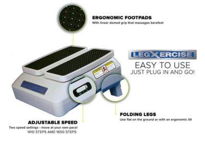 Legxercise - especificaciones técnicas