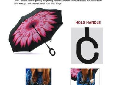 Paraguas invertido - manos libres