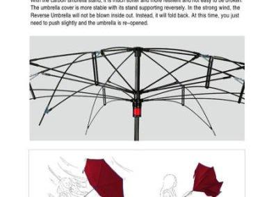 Paraguas invertido resistente al viento