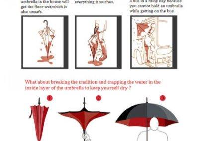 Paraguas invertido vs tradicional