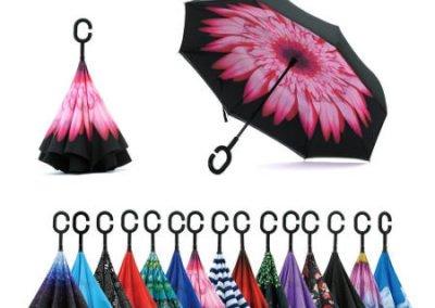 Paraguas invertidos