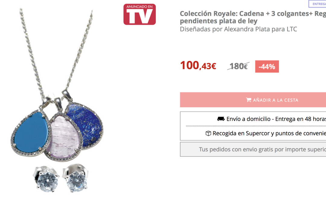 Colección Royale – cadena + 3 colgantes de plata