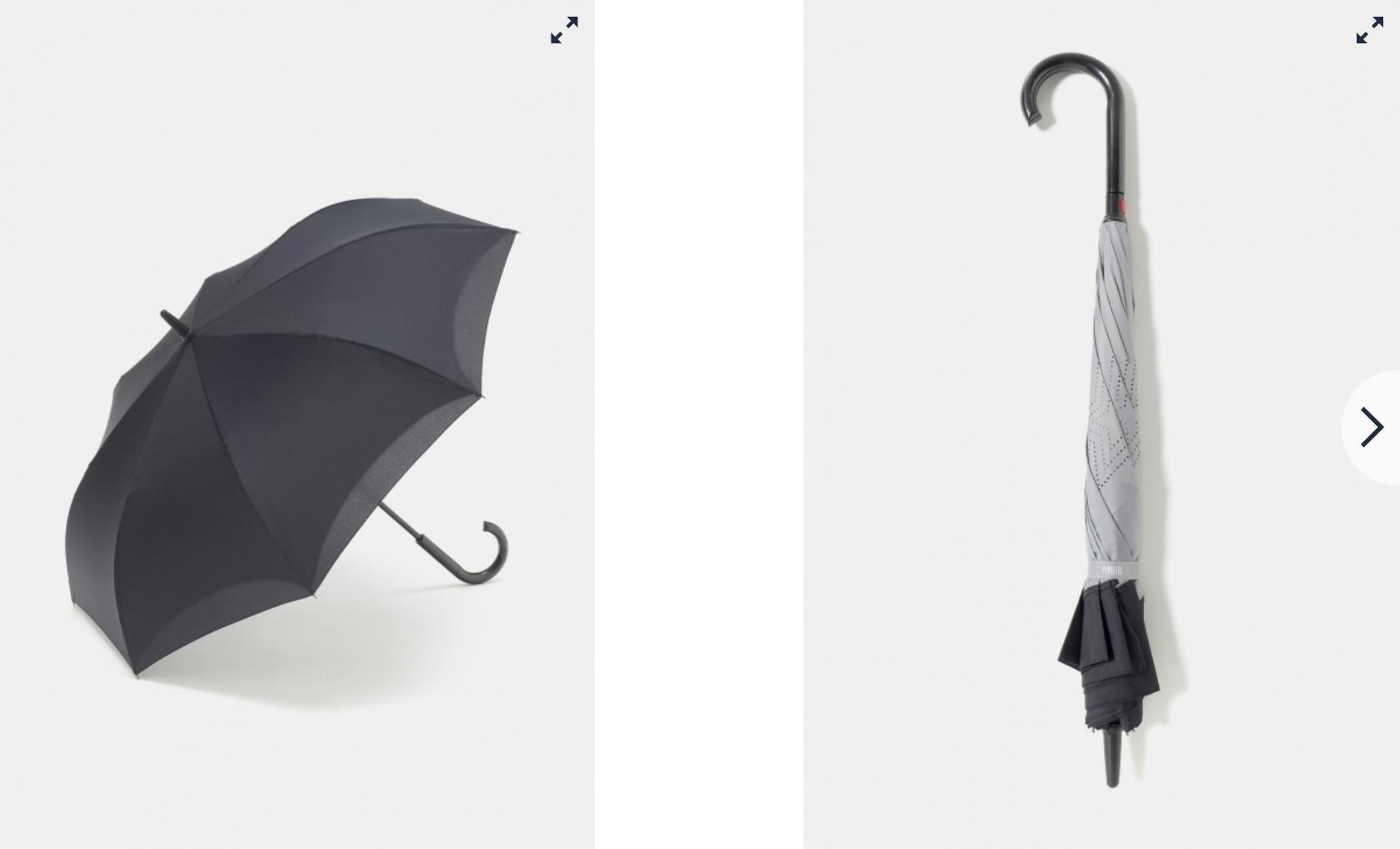 Paraguas invertidos Carrefour